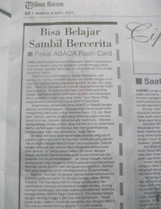 ABACA Flashcard on Tribun