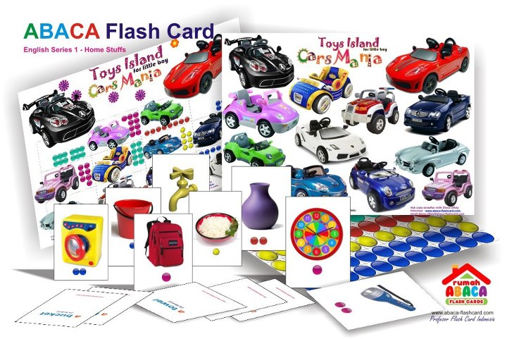 abaca english series : cars mania for boys
