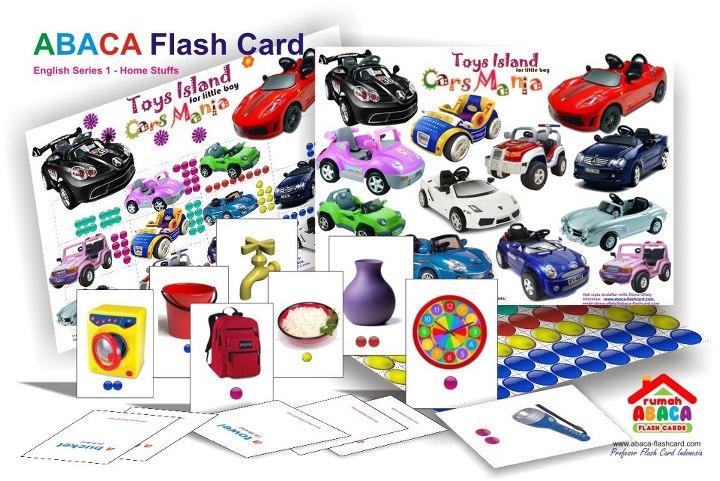 abaca english series : cars mania for boys - ABACA English Series 1 Dengan Game Delicious Cakes & Cars Mania