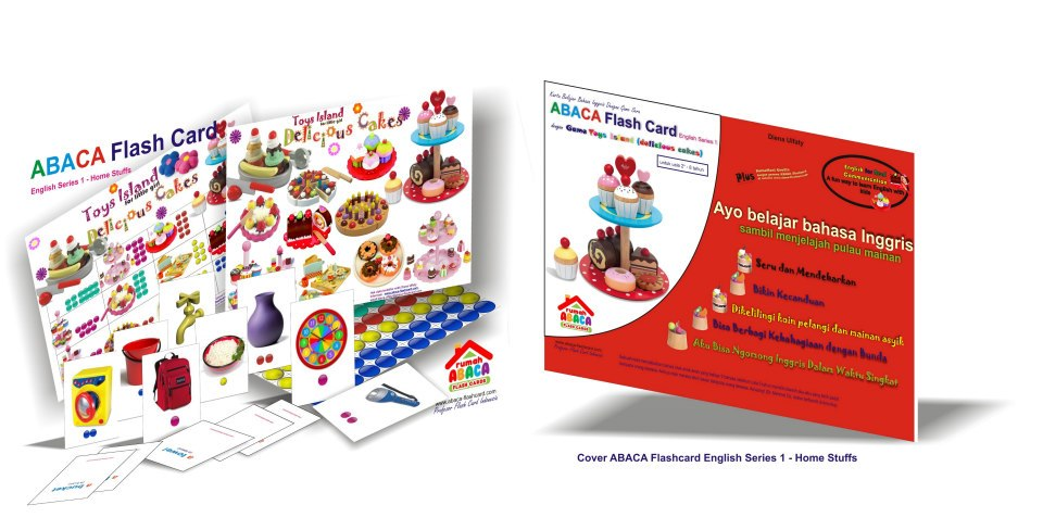 abaca english series for girls : delicious cakes - ABACA English Series 1 Dengan Game Delicious Cakes & Cars Mania